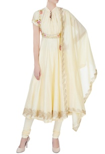 yellow-floral-embroidered-anarkali-set