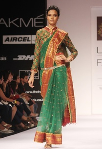 green-embroidered-sari-blouse
