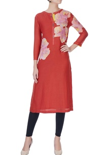 red-patch-work-kurta
