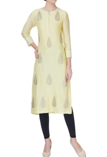 yellow-zari-embroidered-kurta