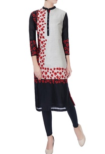 black-flower-embroidered-kurta
