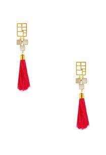 gold-plated-pink-tassel-earrings