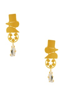 gold-geometric-shaped-earrings