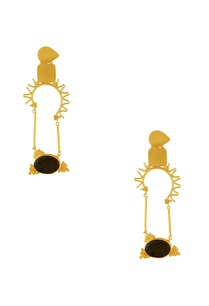 gold-plated-earrings-with-black-stones