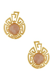 gold-plated-earrings-with-peach-stones