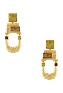 gold-u-shaped-stone-earrings
