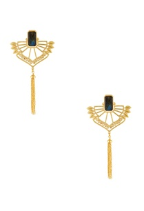 gold-plated-black-stone-earrings