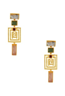 gold-plated-geometric-shaped-earrings