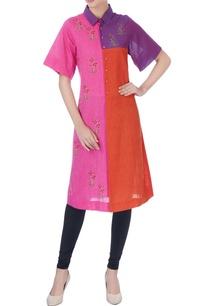 multicolored-color-block-cotton-kurta