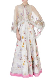 multicolored-khadi-cotton-dress-cape