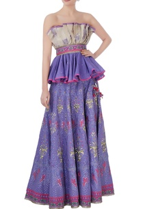 purple-pink-off-shoulder-blouse-lehenga