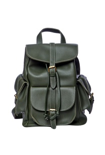 green-backpack-with-tie-up-straps