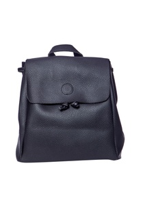 black-faux-leather-backpack