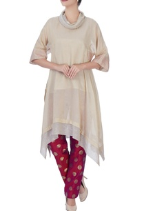 beige-cowl-top-with-polka-dot-pant