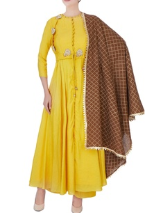 mustard-yellow-embroidered-palazzo-set