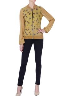 ocher-yellow-printed-jacket
