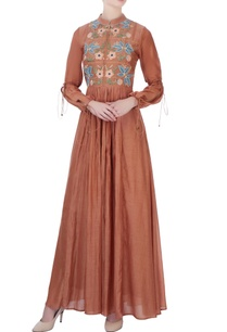 brown-embroidered-maxi-dress