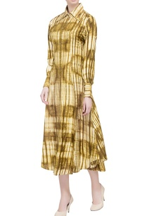 olive-handwoven-printed-dres
