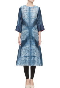 blue-printed-silk-tunic
