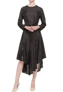 black-panelled-asymmetric-dress