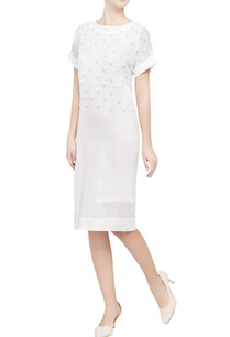 white-printed-shift-dress