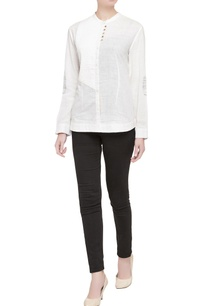 white-pleated-panel-shirt