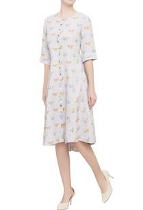 grey-bird-motif-printed-dress