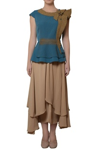 blue-peplum-top-layered-skirt