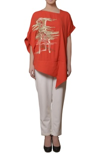 coral-red-embroidered-tunic-pants