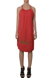 coral-red-hand-embroidered-dress