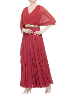 red-pleated-style-gown