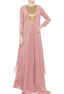 pink-flowy-double-layered-gown