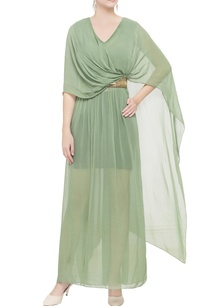 green-draped-double-layer-gown