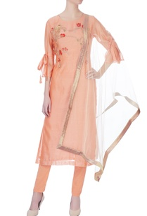 peach-machine-embroidered-kurta