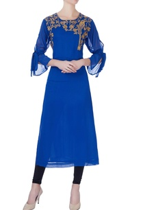royal-blue-georgette-kurta