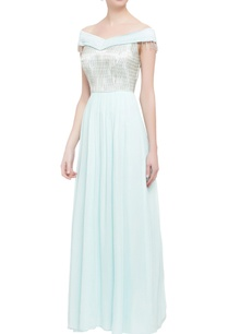 powder-blue-off-shoulder-gown