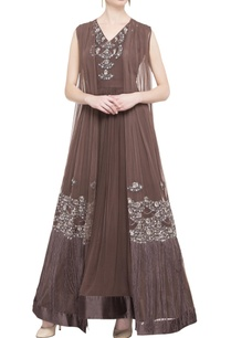 brown-anarkali-with-jacket