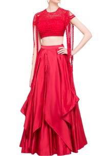 red-silk-lehenga-embroidered-blouse
