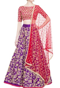 pink-blouse-with-purple-lehenga-dupatta