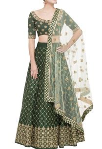 green-lehenga-set-with-gold-sequin-work