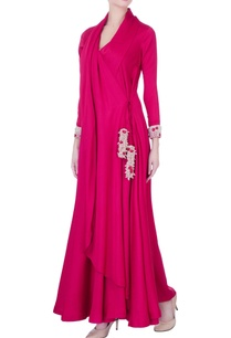 pink-trench-coat-style-anarkali