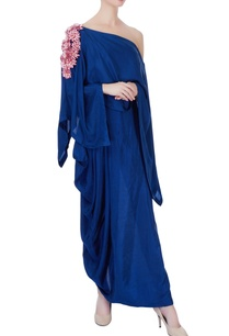 blue-silk-draped-dress