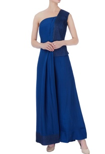 blue-one-shoulder-top-parallel-pants