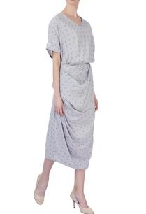 grey-micro-print-dress