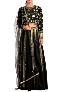 black-sequin-lehenga-set