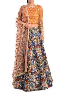 blue-lehenga-with-blouse-dupatta
