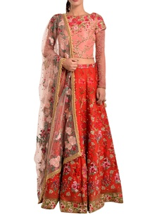 red-lehenga-in-floral-embroidery-pearls
