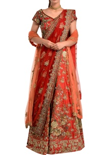red-floral-bridal-lehenga-set