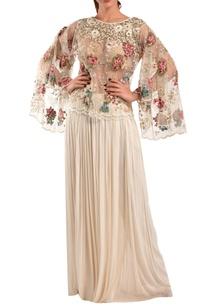 white-silk-net-top-farsi-pants