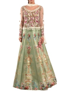 green-accordion-pleated-lehenga